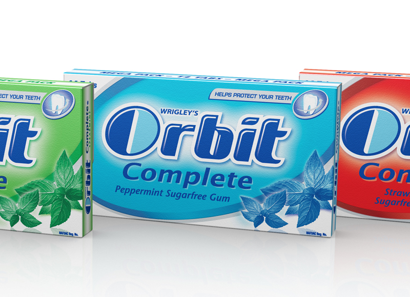 3D Packaging Visualisation – Orbit Gum Visuals