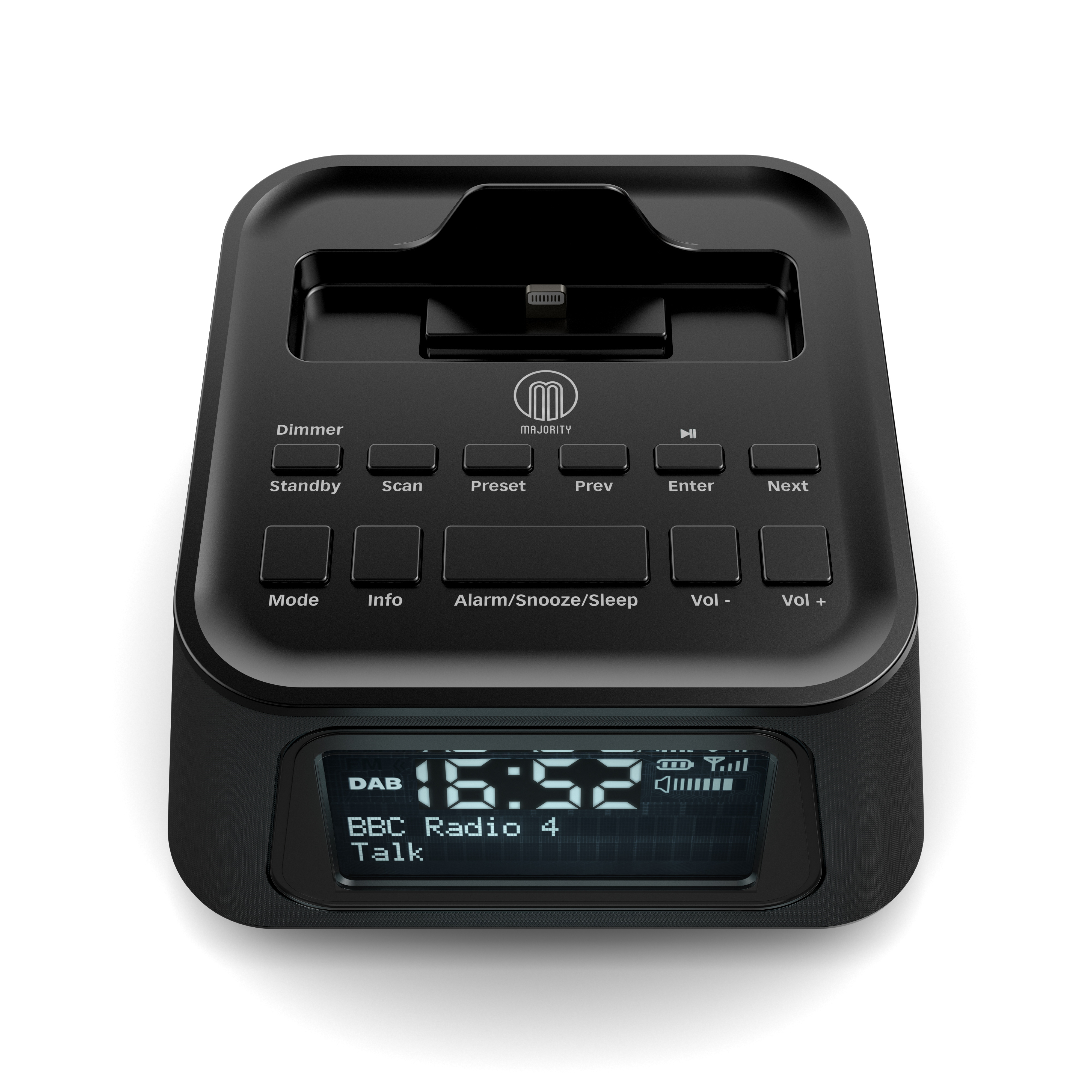product visualisation dab radio alarm clock. Black Bedroom Furniture Sets. Home Design Ideas