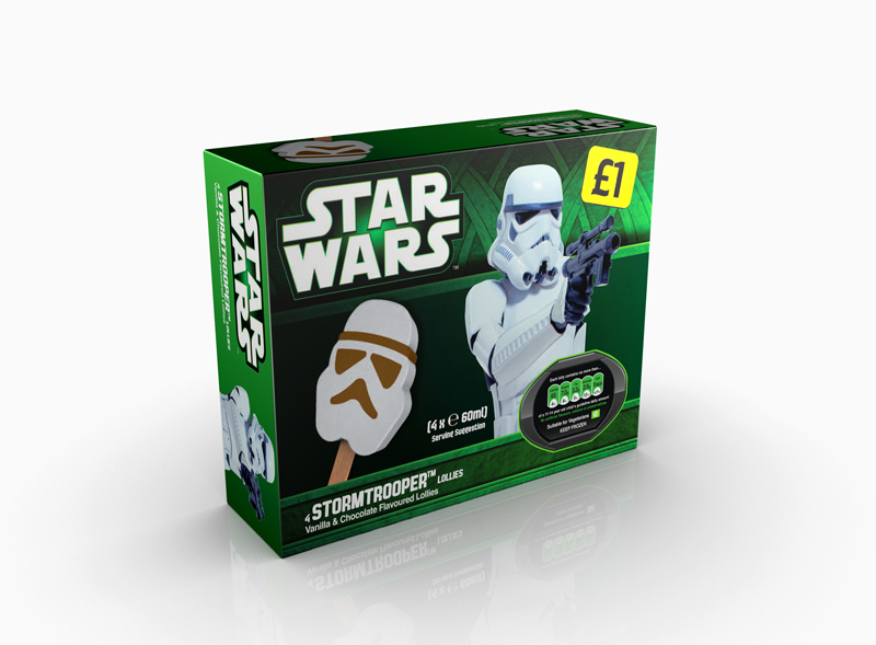 3D Visualisation – Star Wars ice cream packaging