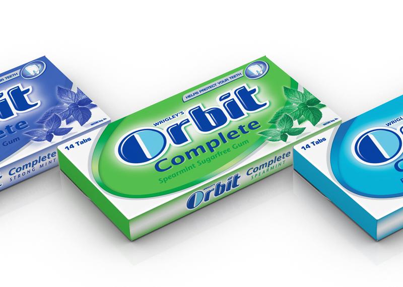 3D Packaging Visualisation – Orbit Gum Visuals