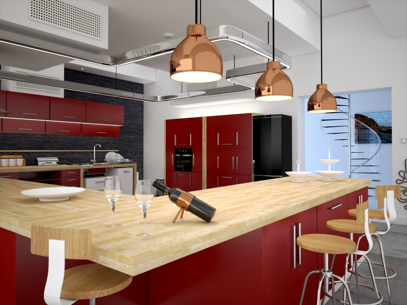 Interior Visualisation – High end Kitchen CGI
