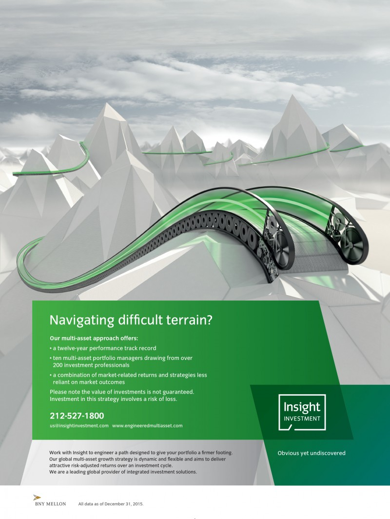 3D Illustration Insight absolute return ad campaign