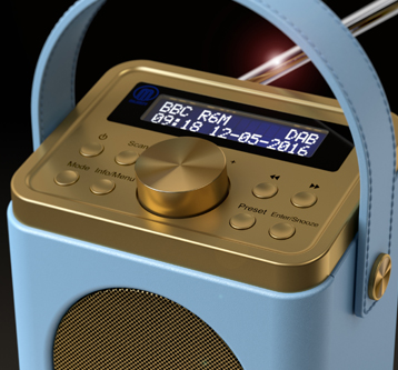 3D PRODUCT VISUALISATION DAB RADIO